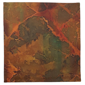 DEEP AUTUMN Rich Earthy Abstract Fall Napkin