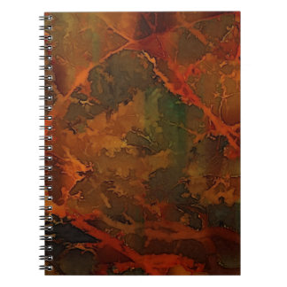 DEEP AUTUMN Rich Earthy Abstract Fall Notebook