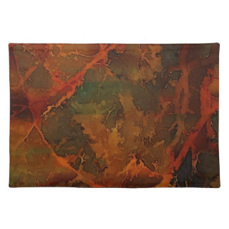 DEEP AUTUMN Rich Earthy Abstract Fall Placemat