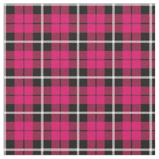 Deep Autumn warm pink white/black stripe Fabric