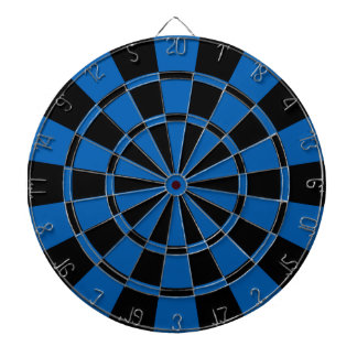 Deep Blue And Black Dart Board
