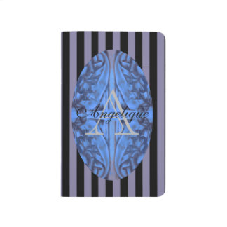 Deep Blue and Plum Purple Combo Design w Monogram Journal