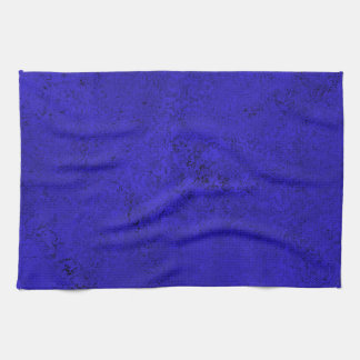Deep Blue & Black Abstract Kitchen Towel