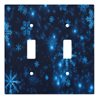Deep Blue & Bright Snowflakes Toggle Switch Cover