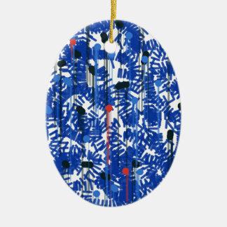 Deep Blue Ceramic Ornament