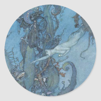 Deep Blue Dreams Vintage Mermaid Sticker