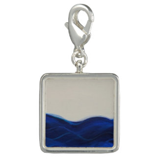 Deep Blue, Flowing Water Charm for Bracelet
