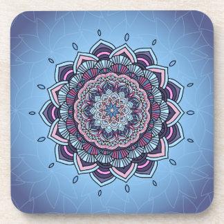 Deep Blue Glow Mandala ID361 Coaster