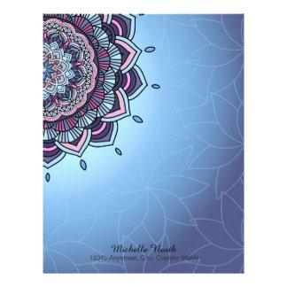 Deep Blue Glow Mandala ID361 Letterhead