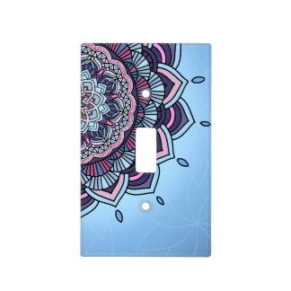 Deep Blue Glow Mandala ID361 Light Switch Cover
