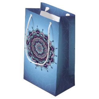 Deep Blue Glow Mandala ID361 Small Gift Bag