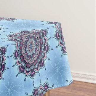 Deep Blue Glow Mandala ID361 Tablecloth