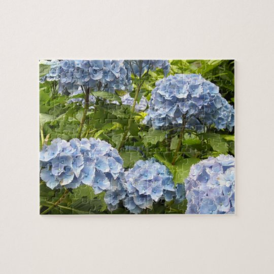 Deep Blue Hydrangeas Jigsaw Puzzle