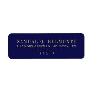 Deep blue indigo | Personalized Return Address