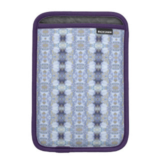 Deep Blue Iris Garden Rickshaw iPad Mini Sleeve
