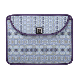 Deep Blue Iris Garden Rickshaw Macbook Sleeve