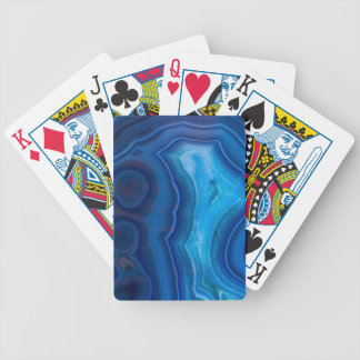 Deep Blue Lagoon Agate Bicycle Playing Cards