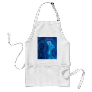 Deep Blue Lagoon Agate Standard Apron