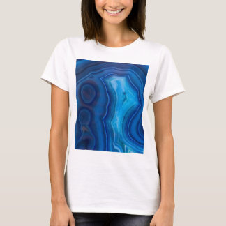 Deep Blue Lagoon Agate T-Shirt