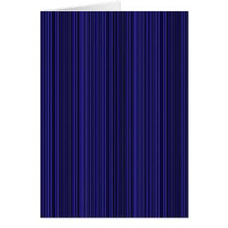 Deep blue lines card