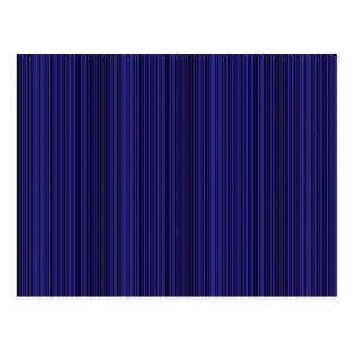 Deep blue lines postcard