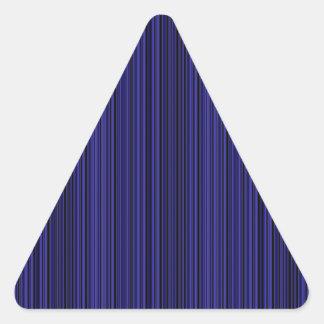 Deep blue lines triangle sticker