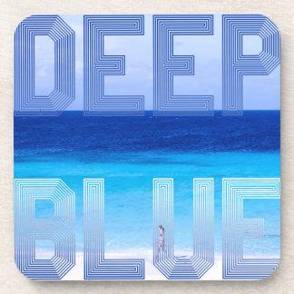 Deep Blue logo backdrop Coaster