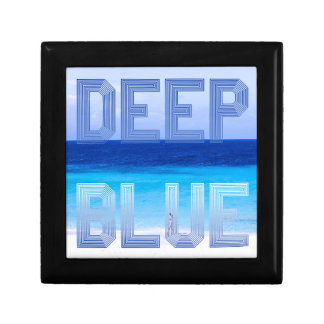 Deep Blue logo backdrop Gift Box