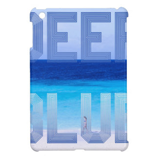 Deep Blue logo backdrop iPad Mini Cases