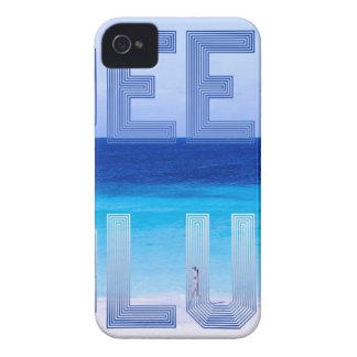 Deep Blue logo backdrop iPhone 4 Cases