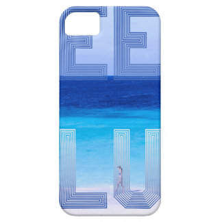Deep Blue logo backdrop iPhone 5 Cases
