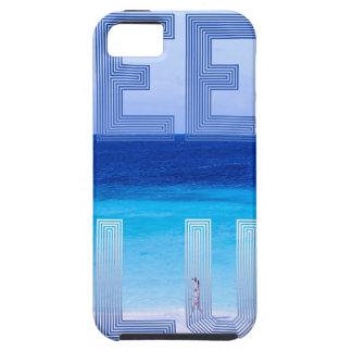 Deep Blue logo backdrop iPhone 5 Cover