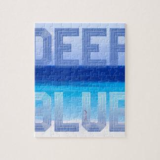 Deep Blue logo backdrop Jigsaw Puzzle