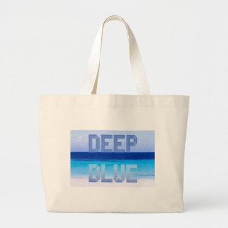 Deep Blue logo backdrop Large Tote Bag
