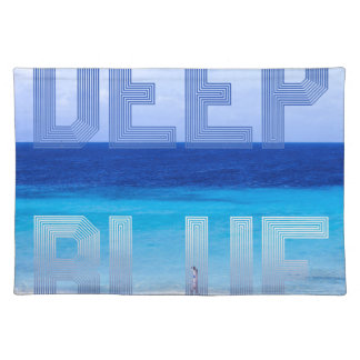 Deep Blue logo backdrop Placemat
