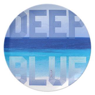 Deep Blue logo backdrop Plate