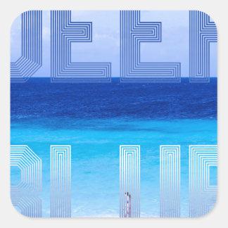 Deep Blue logo backdrop Square Sticker