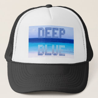 Deep Blue logo backdrop Trucker Hat