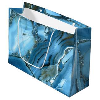Deep Blue Marble Large Gift Bag