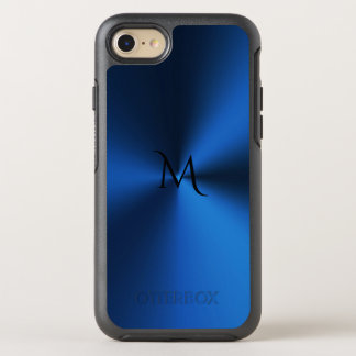 Deep Blue Monogram Metallic Otterbox iPhone 7 Case