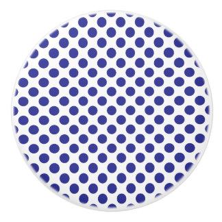 Deep Blue Polka Dots Ceramic Knob