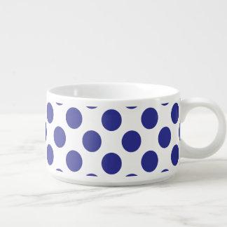 Deep Blue Polka Dots Chili Bowl