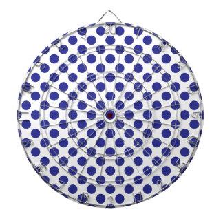 Deep Blue Polka Dots Dartboard