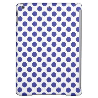 Deep Blue Polka Dots iPad Air Covers