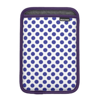 Deep Blue Polka Dots iPad Mini Sleeve