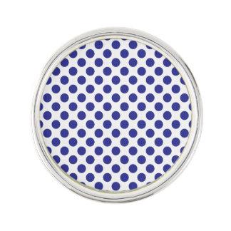 Deep Blue Polka Dots Lapel Pin