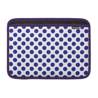 Deep Blue Polka Dots MacBook Sleeve