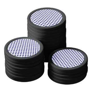 Deep Blue Polka Dots Poker Chips