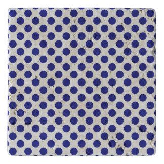 Deep Blue Polka Dots Trivet