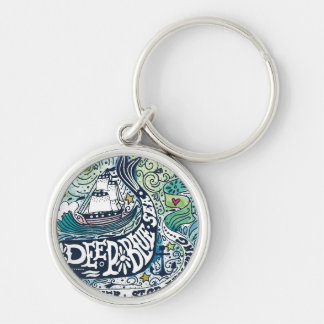 Deep Blue Sea |Never Stop Exploring Keychain
